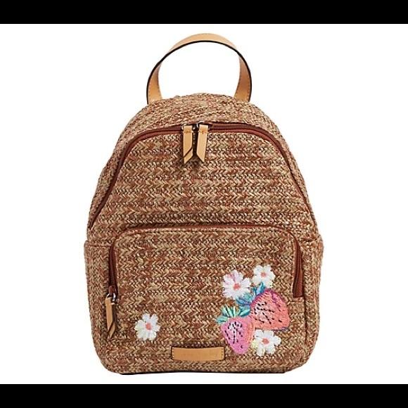 Vera Bradley Straw Backpack